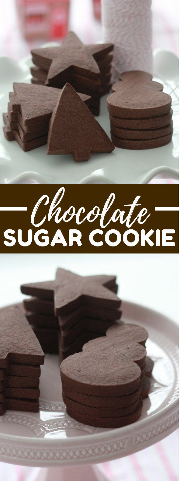 Chocolate Sugar Cookie Recipe {Cut Out Cookies} #desserts #sugarcookies
