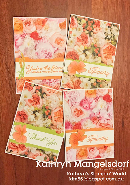 Stampin' Up! Petal Promenade, Quick and Easy Card #likeitchopit designed by Kathryn Mangelsdorf