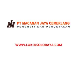 Lowongan Perusahaan Percetakan Klaten di PT Macanan Jaya Cemerlang