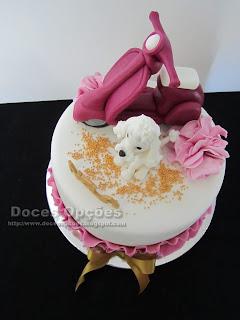 moto vespa cake