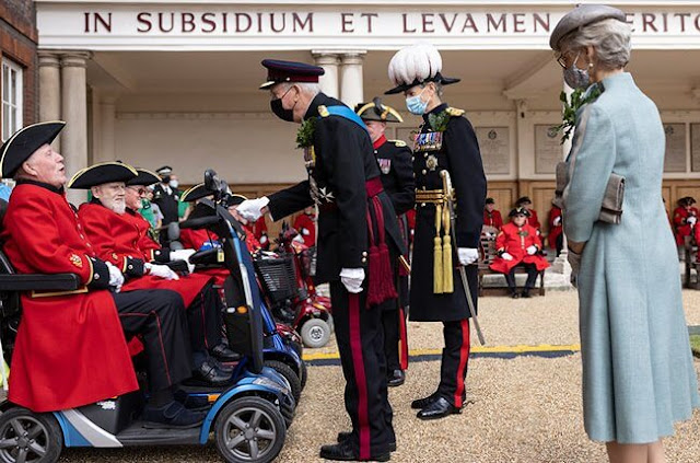 Duke and Duchess of Gloucester attend the Founder's Day Parade