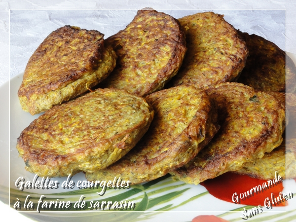 Galettes de courgettes à la farine de sarrasin