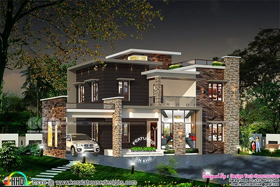 2214 square feet 4 bedroom modern house plan