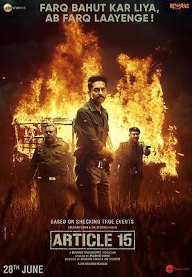 Poster Article 15 2019 Hindi HD 720p