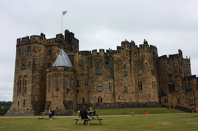 Photo of the castle, with the spot where Neville got stuck on his first flying lesson.