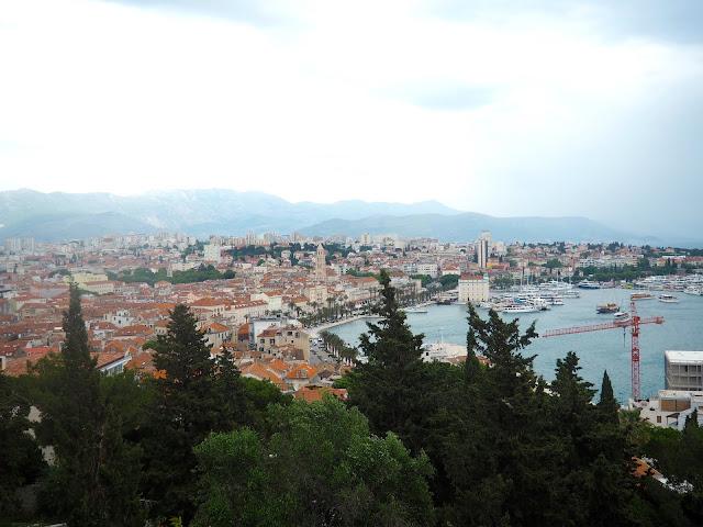 View of Split from Marjan Hill, Croatia