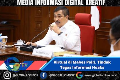 Virtual di Mabes Polri,Kabareskrim Minta Jajarannya Tindak Tegas Informasi Hoaks Penanganan Covid-19