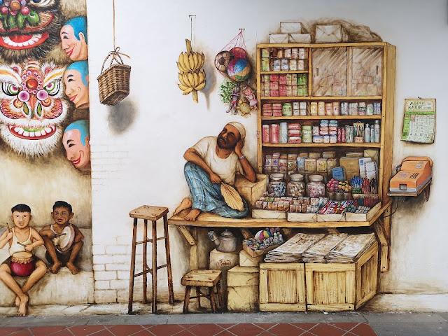 Chinatown mural - Mamak Shop