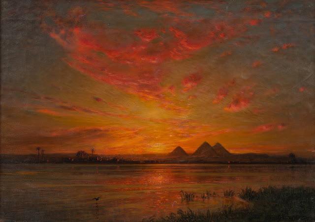 1906. Ernst Koerner - Sunset on the Nile