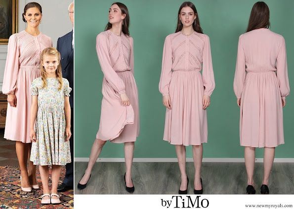 Crown Princess Victoria wore ByTiMo Queen day dress dusty pink