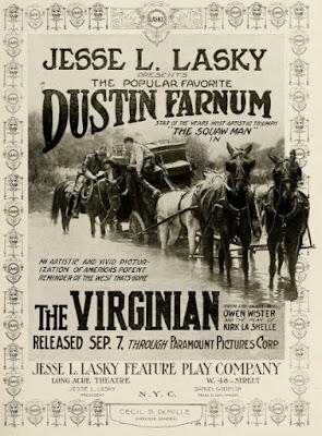 Póster película El virginiano - 1914