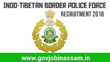 ITBP ASI Recruitment 2018, itbp, govjobinassam
