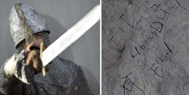 Μυστηριώδης επιγραφή με ελληνικά γράμματα σε παλάτι του βασιλιά Αρθούρου