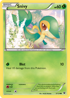 Snivy Fates Collide Pokemon Card