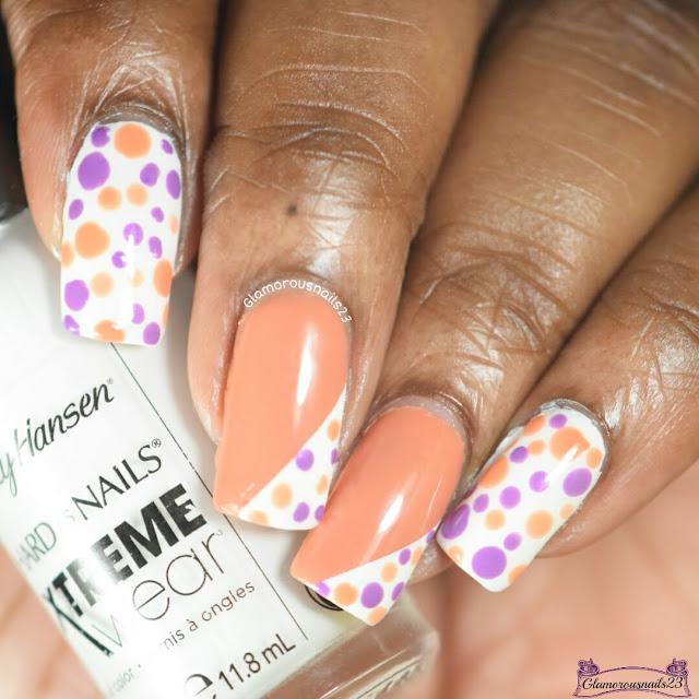 Purple & Orange Dotticure