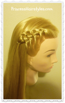 Flip knot braid hairstyle tutorial