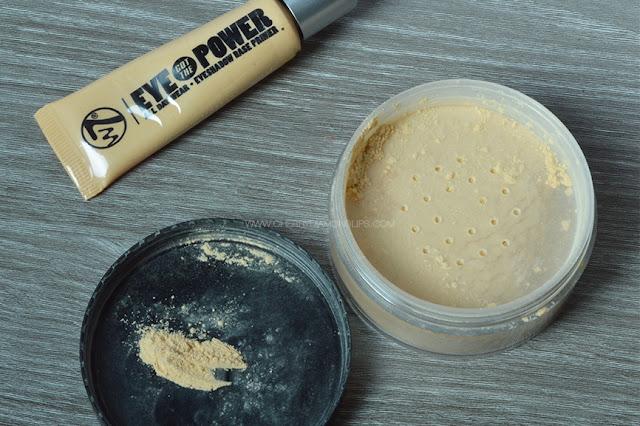 Haul Maquibeauty, Maquillalia, Eye Primer Eye Got The Power w7, Banana Dreams W7 Makeup, yellow powder, eye primer w7, primer low cost