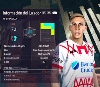 PES 2020 Faces Norberto Briasco by Gordoumbanda
