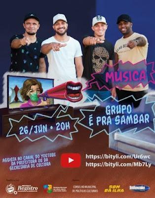 Grupo É PRA SAMBAR abre a série de lives do Arte In Casa no dia 26
