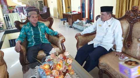 Kakankemenag Bersilaturrahmi dengan Ketua MUI Kabupaten Solok