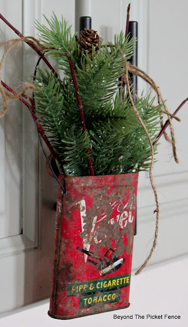 rustic Christmas decor from thrift store finds