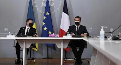 Зеленский, Макрон и Меркель призвали Путина отвести войска от украинской границы