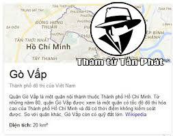 Thám tử tư tại Quận Gò Vấp TPHCM