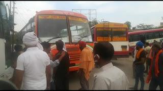 रोडवेज परिसर में बस चालकों, परिचालकों ने किया प्रदर्शन, दूषित खाना देने का आरोप | #NayaSabera