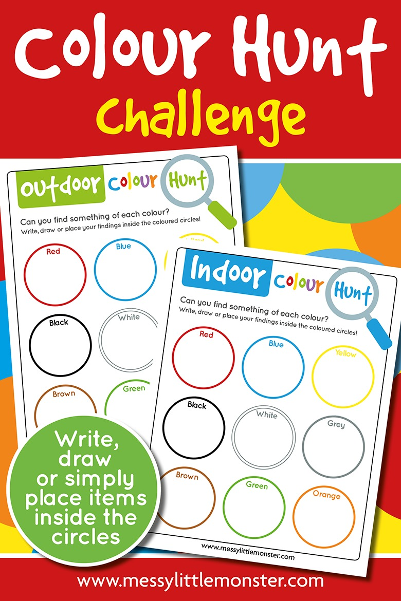 printable colour scavenger hunt for kids