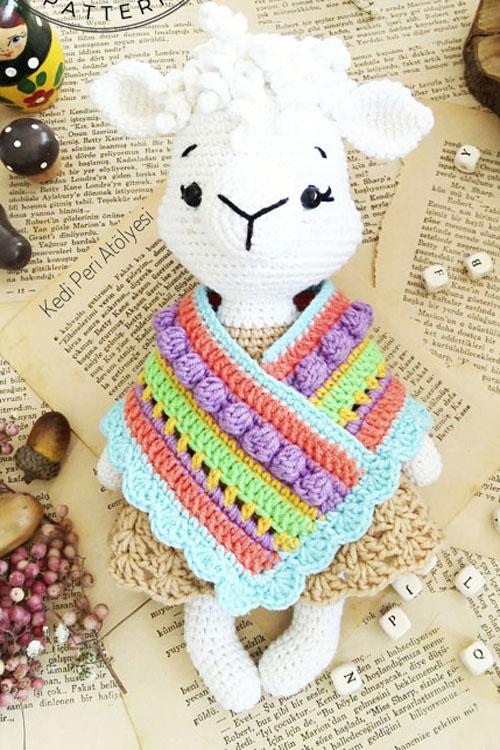 Lama Patmos Doll Amigurumi Free Crochet Pattern