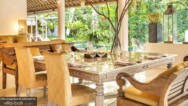 Luxury Bali Villa Dining Area