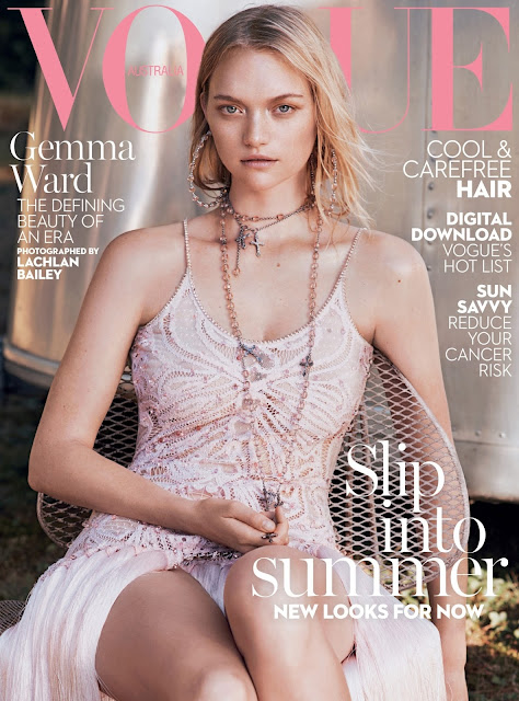 Actress, Fashion Model, @ Gemma ward by lachlan bailey for Vogue Australia, January 2016