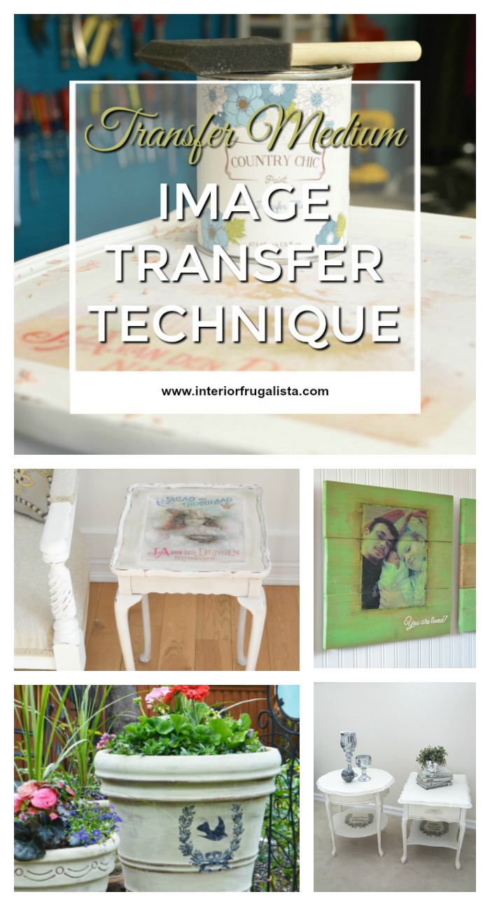 Image Transfer Technique Using Transfer Medium