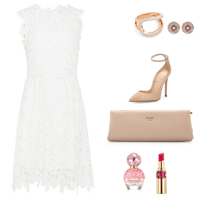 White lace dress outfit - Ioanna's Notebook