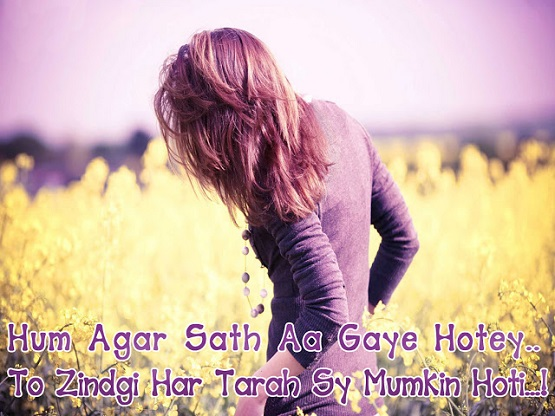 Love shayari in hindi 2016 Hum agar saath aa gaye hotay to zindagi har tarah se mumkin hoti