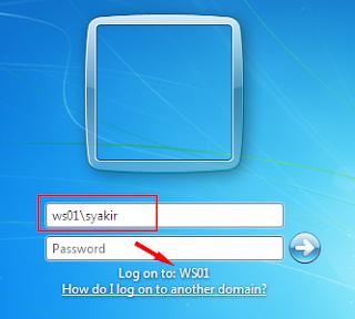 Login ke local account komputer