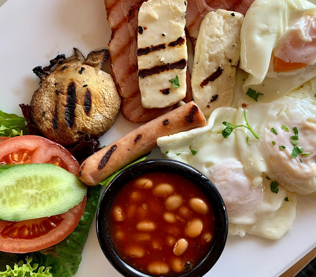 breakfast/brunch at Τα Βανια, Poseidon Avenue, Paphos, Cyprus