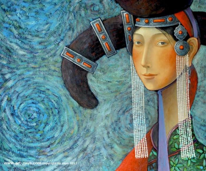 Монгольский художник. Заясайхан Самбуу 16