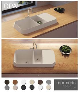 Chiuveta moderna din granit compozit Marmorin OPAL cu design HighRise
