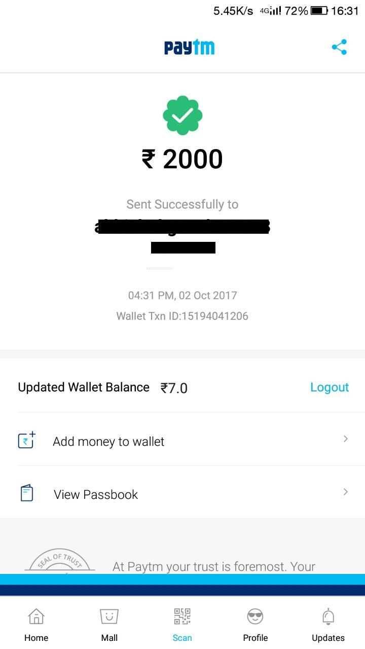 Spoof Paytm Latest Version