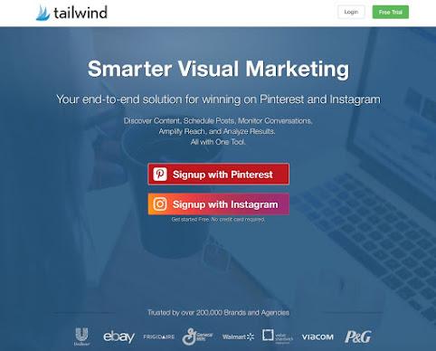Giao diện Tailwind hỗ trợ lên lịch bài ghim trên Pinterest