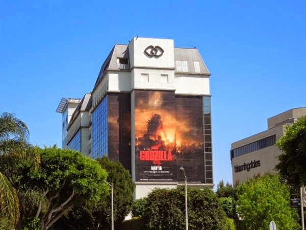 Giant Godzilla movie remake billboard
