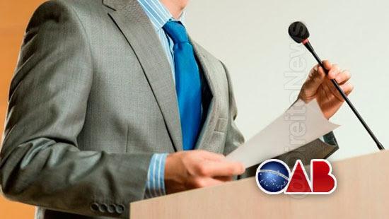 oab regras sustentacao oral julgamentos direito