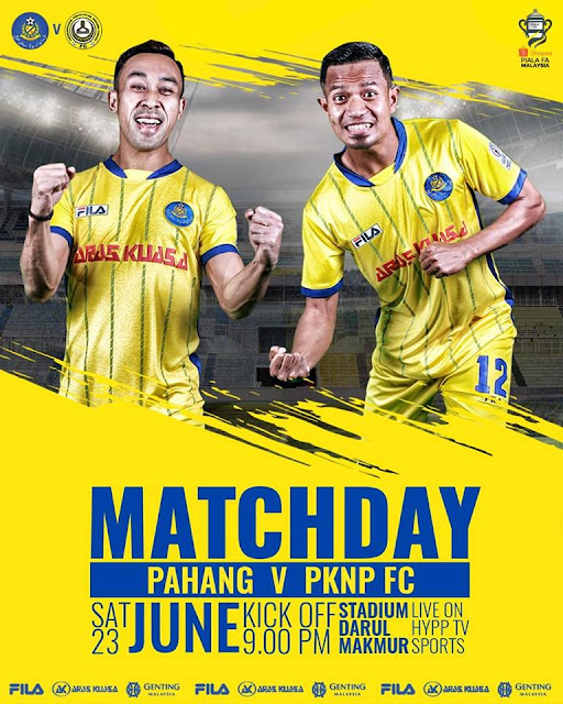 Live Streaming Pahang vs PKNP Piala FA Malaysia 23 Jun 2018