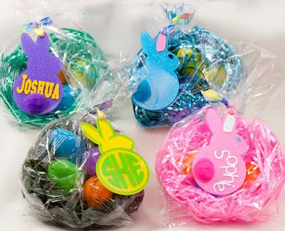 Acrylic glitter Easter bunnies