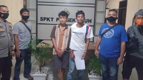 Dua pelaku pencurian dengan kekerasan (curas) diamankan di Mapolsek Pauh