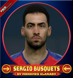 PES 2017 Faces Sergio Busquets by M.Elaraby Facemaker