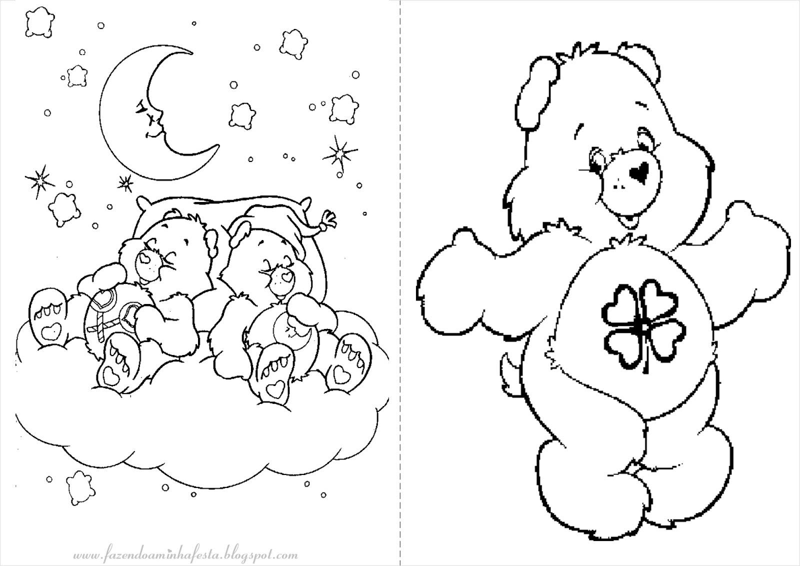 Dibujos Osos Amorosos Para Colorear E Imprimir: Colorir: Ursinhos Carinhosos