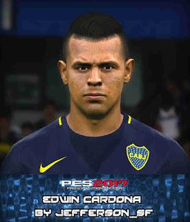 PES 2017 Faces Edwin Cardona by FaceEditor Jefferson_SF