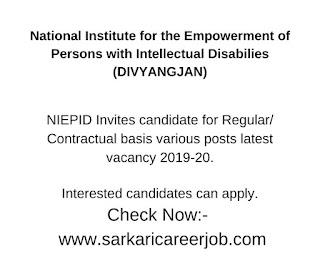 niepid recruitment 2019-20 for 09 posts vacancy.